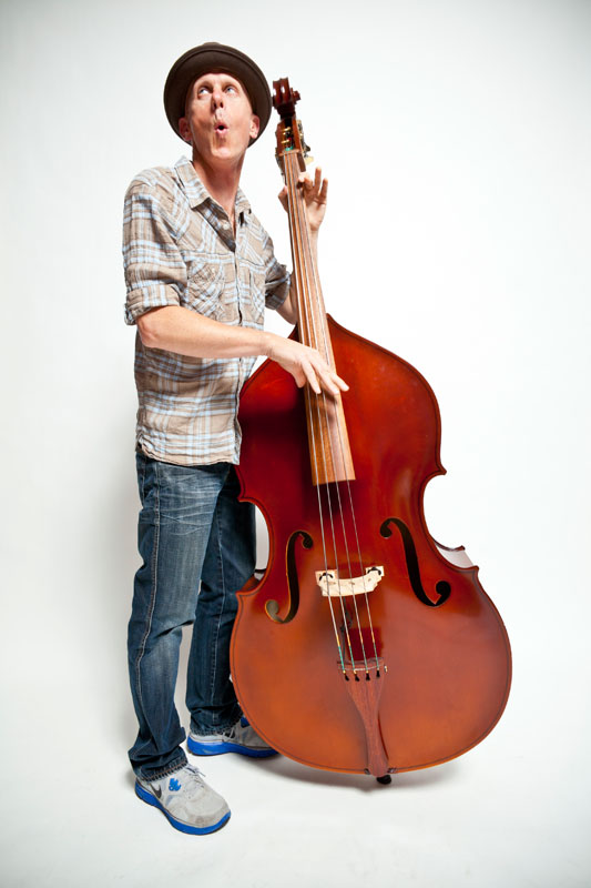 Lane Murchison playing stand-up bass